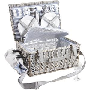 Photo VPI1280C : Willow picnic basket 4 persons