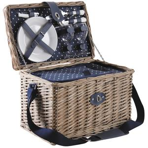 Photo VPI1320C : Grey stained willow picnic basket