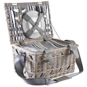 Photo VPI1330C : Bleached willow picnic basket