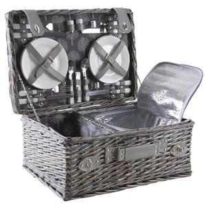 Photo VPI1340C : Grey willow picnic basket