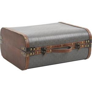 Photo VVA1790 : Valise en bois et simili cuir