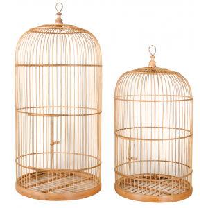 Photo ACA125S : Cages en bambou naturel