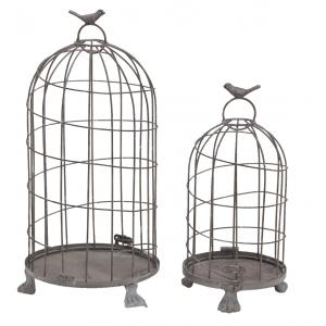 Photo ACA127S : Whitewashed metal cages