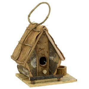 Photo AMA1830 : Wooden birdhouse with feeder