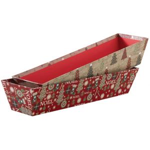 Photo CBA2620 : Cardboard Christmas basket