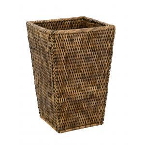 Photo CBU1350 : Antic rattan waste paper basket
