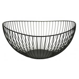 Photo CCO1150 : Black lacquered metal fruit basket
