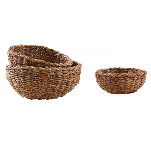 Photo CCO939S : Round natural seagrass bowls
