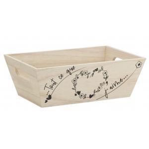 Photo CCO9620 : Pine wood basket with heart