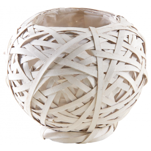 Photo CCO9750P : Whitewashed wood ball basket