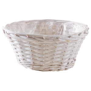 Photo CCO9763P : Whitewashed wood ball basket