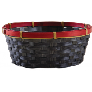 Photo CCO9780 : Round stained bamboo basket