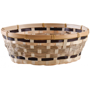 Photo CCO9791 : Round stained bamboo basket