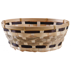 Photo CCO9792 : Round stained bamboo basket