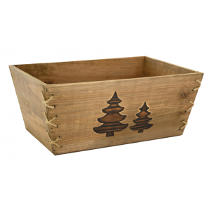 Photo CCO9930 : Rectangular stained wood basket