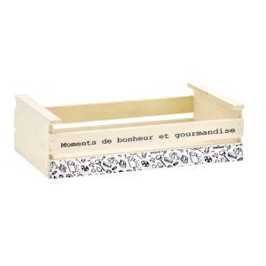 Photo CDA6010 : Poplar wood basket Moments de bonheur et gourmandise