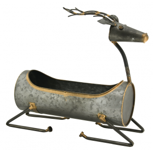 Photo CFA2840 : Metal baskets deer