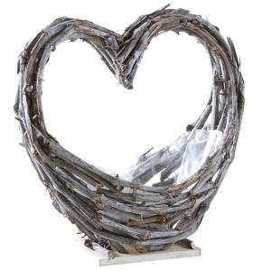 Photo CFL1780P : Vine stalk heart basket