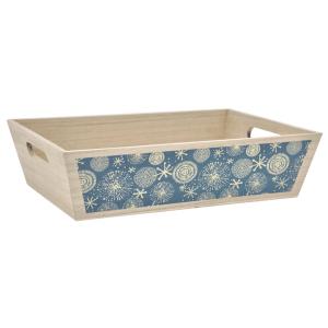 Photo CMA4900 : Rectangular pine basket Snowflake