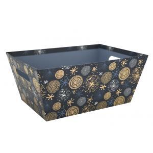 Photo CMA5110 : Rectangular cardboard basket Fireworks