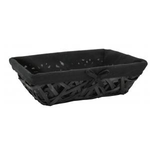 Photo CMA5160C : Black lacquered crazy wood basket