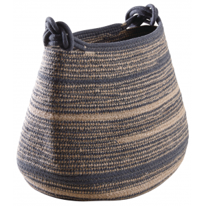 Photo CRA5750 : Natural jute and polyester storage baskets