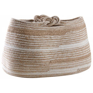 Photo CRA5760 : Natural jute and polyester storage baskets