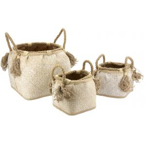 Photo CRA582S : Withewashed seagrass baskets