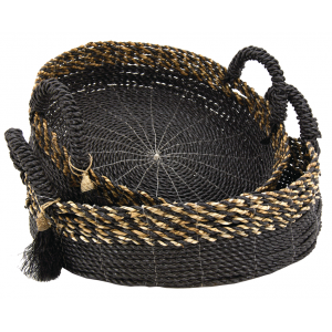 Photo CRA588S : Raffia and seagrass baskets