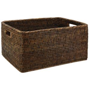 Photo CRA590S : Antique rattan storage basket