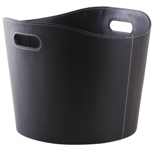 Photo CUT1560 : Black imitation leather basket