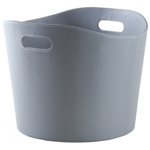 Photo CUT1570 : Grey imitation leather basket