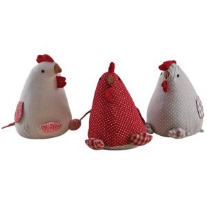 Photo DAN2790 : Cale-porte poule en coton et lin