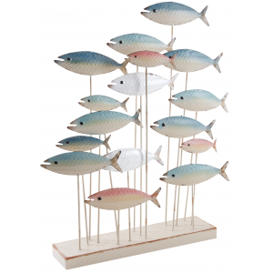 Photo DAN3000 : Banc de poisson en métal sur pied