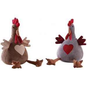 Photo DAN3030 : Velvet chicken doorstops