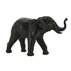 Photo DAN3180 : Éléphant en résine teintée noire