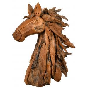 Photo DAN3300 : Tête de cheval en teck