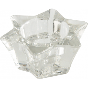 Photo DBO1390V : Glass candle holder