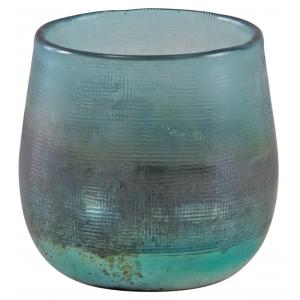 Photo DBO3430V : Photophore en verre turquoise