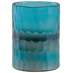 Photo DBO3440V : Photophore en verre turquoise