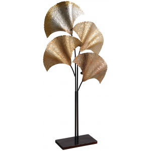 Photo DBO3530 : Metal leaves candle holder