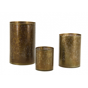 Photo DBO363S : Metal candle holders scarved