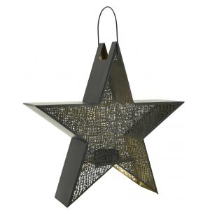 Photo DBO3650 : Lacquered metal star lantern