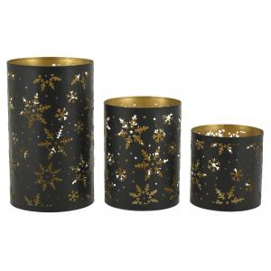Photo DBO368S : Metal candle holders Snowflakes