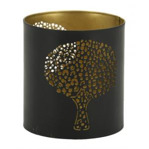 Photo DBO3690 : Lacquered metal candle holder Tree