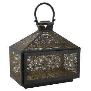 Photo DBO3720 : Lacquered metal lantern 2 candles