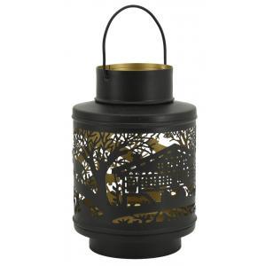 Photo DBO3751 : Lanterne en métal laqué intérieur doré