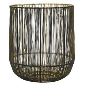 Photo DBO3760 : Photophore en fil métal intérieur doré