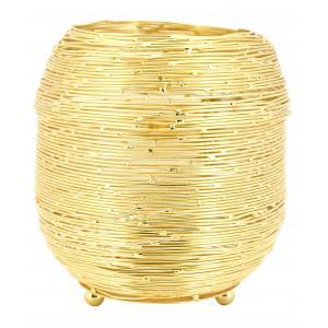 Photo DBO3771 : Photophore en métal doré