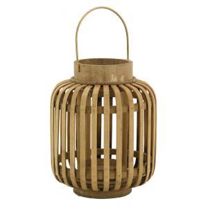 Photo DBO3800V : Bamboo and metal lantern